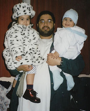 A photograph of Shaker Aamer with his two chil...