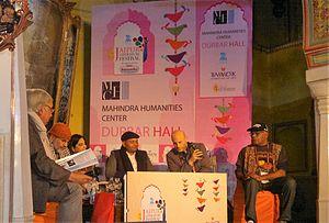 Abhay Kumar - Abhay K, Fady Joudah, Lionel Fogarty, Sadaf Saz, Arjun Deo Charan, Ashok Bajpai at JLF 2015