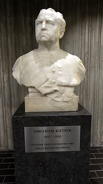 Vrije Universiteit Amsterdam - Bust of Abraham Kuyper, founder of the VU, in the Main Building.