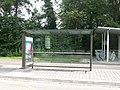 Abribus - bus de remplacement tramway B Strasbourg (Ostwald).JPG