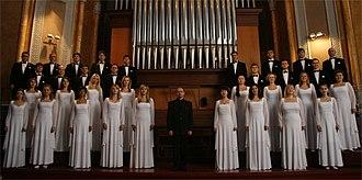 Kharkiv Philharmonic Society - Academic choir of Kharkiv Philharmonic named after V. Palkin and chief leader of choir, prize winner of the all-Ukrainian choir masters contest, Andriy Syrotenko.