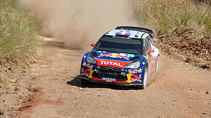 Acropolis Rally - Loeb with Citroën DS3 WRC at the 2011 event