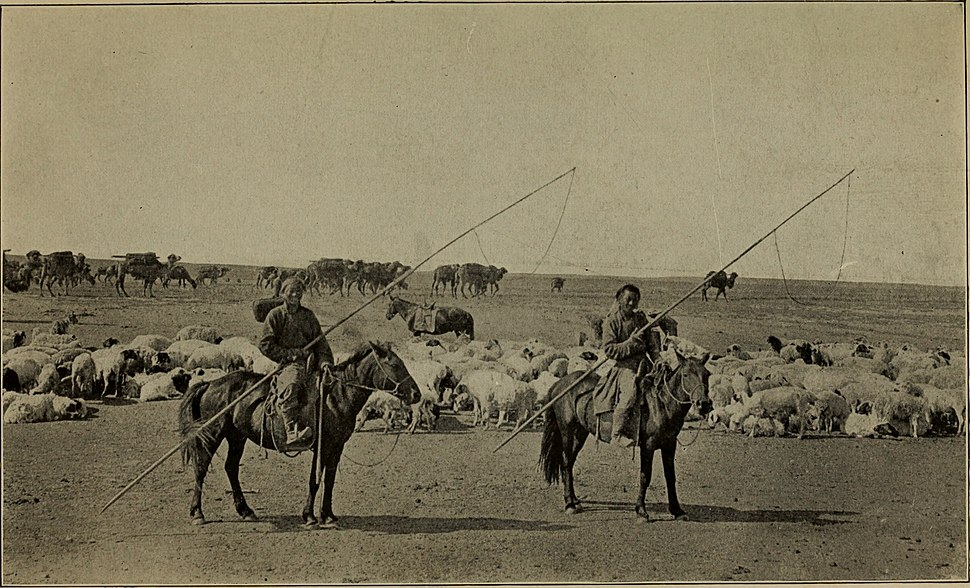 """Across Mongolian plains; a naturalist's account of China's """"great northwest"""", by Roy Chapman Andrews photographs by Yvette Borup Andrews (1921) (16769576222)"""