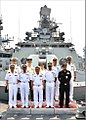 Admiral Katsutoshi Kawano Chief of Staff Joint Staff of Japanese Self Defence Forces onboard INS Satpura.jpg