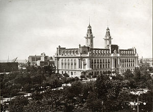 Buenos Aires Customs - View of the Customs Building in 1910.