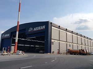 Aegean Airlines - Aegean Airlines hangar at Athens International Airport