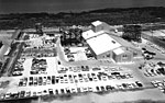 Aerial view of Hangar AE after additions, 1964 (KSC-64-10286).jpg