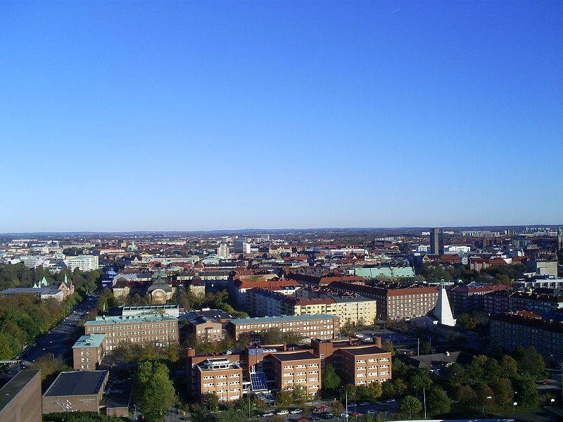 File:Aerial view over Malmö taken from Kronprinsen towards east.jpg