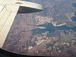 Aeroporto Costa Smeralda e Olbia dall'alto.jpg