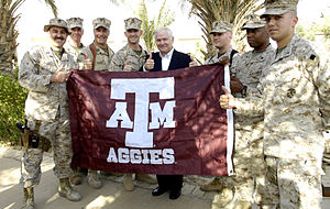 US Secretary of Defense Robert Gates gives a g...