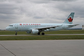 Calgary International Airport - An Air Canada Airbus A320