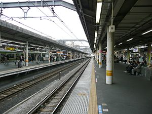 Akabane Station - View from platform 5/6, May 2010