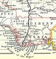 Akassa on a John Bartholomew & Co. map published c. 1914 (part).jpg