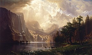 Hudson River School - Albert Bierstadt, Among the Sierra Nevada Mountains, California, 1868, Smithsonian American Art Museum, Washington, DC.