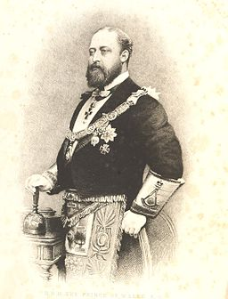 Albert Edward, Prince of Wales, as a Free Mason