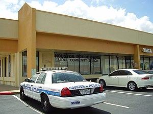 Aldine, Texas - Aldine police storefront in Houston