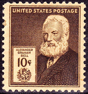 Alexander Graham Bell honors and tributes - A.G. Bell US postage stamp issue of 1940