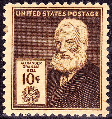 ~ A.G. Bell issue of 1940 ~ Alexander Grahm Bell2 1940 Issue-10c.jpg
