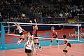 Algeria and Japan women's national volleyball team at the 2012 Summer Olympics (7914024812).jpg