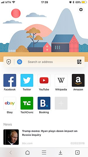 Aloha Browser for iPhone screenshot