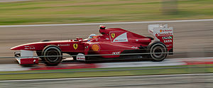2011 Indian Grand Prix - Fernando Alonso qualified in third position.