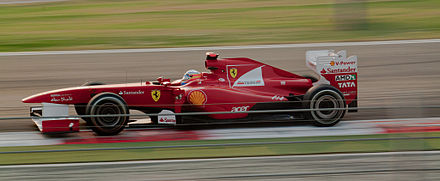 Fernando Alonso qualified in third position. Alonso Buddh 2011.jpg