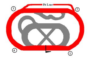 Altamont Raceway Park - Diagram of Altamont Raceway Park.