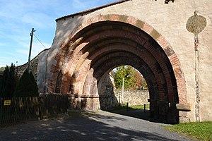 Altzella Abbey - Romanesque entrance gateway