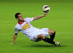 Álvaro Negredo - Negredo in action for Sevilla in 2012