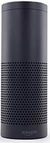 Photograph of the Amazon Echo on a white background