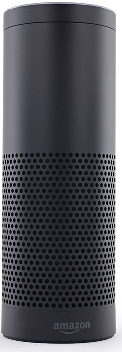 Musta Amazon Echo -kaiutin.