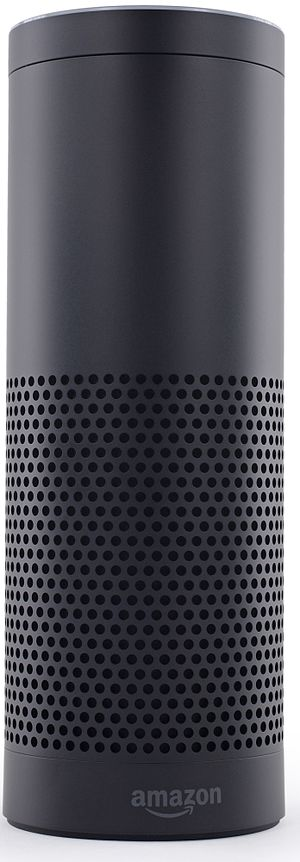 Virtual assistant (artificial intelligence) - Amazon Echo smart speaker running the Alexa virtual assistant