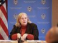 Ambassador Laura E. Kennedy at January 20, 2011 Press Briefing.jpg