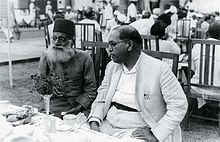 Ambedkar and Maulana Hasrat Mohani (left) at Sardar Patel's reception