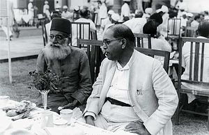 Hasrat Mohani - Ambedkar and Mohani (left) at Sardar Patel's reception
