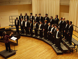 Amherst College Glee Club - Image: Amherst College Glee Club in 2009