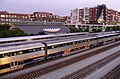 Amtrak Trains Passing at Emeryville Station.jpg
