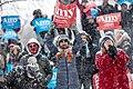 Amy Klobuchar supporters cheer as the Senator speaks. Klobuchar announced her bid for the presidency from Boom Island Park in Minneapolis, Minnesota (33179910348).jpg