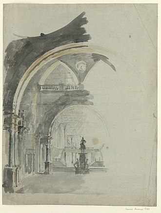 Lodoïska - Image: An Antic Gallery, Lodoïska sketch for the decor of the 2nd act (François Verly, after Ignazio Degotti)