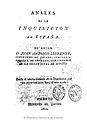 Anales de la Inquisición de España 1812 Llorente T1.jpg