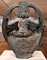 Andhra pradesh, karttikeya, dio della guerra, seduto sul pavone, da madanapalle, periodo ganga, XII secolo ca. 02.jpg