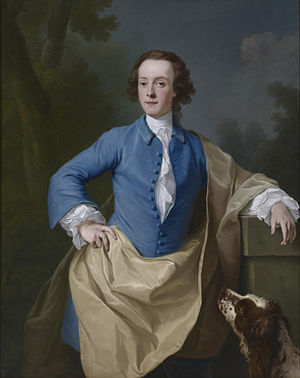 Baron Dacre - Portrait by Andrea Soldi of Thomas Barrett-Lennard, 17th Baron Dacre (1736-1744)