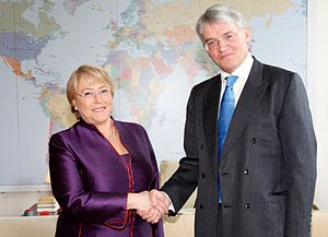 Andrew Mitchell meets Michelle Bachelet, head ...