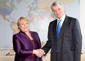Andrew Mitchell - Mitchell with Michelle Bachelet, head of UN women