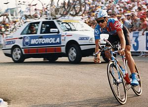 1988 Giro d'Italia - Andrew Hampsten (pictured during the Tour de France in 1993) won two stages and four classifications at the 1988 Giro d'Italia.
