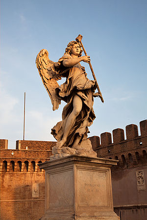 Antonio Giorgetti - Angel with the Sponge by Giorgetti, one of the series of Angels with the Instruments of the Passion on the Ponte Sant'Angelo, Rome