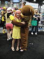Anime Expo 2011 - Pedobear and a young friend (yikes!) (5917932362).jpg