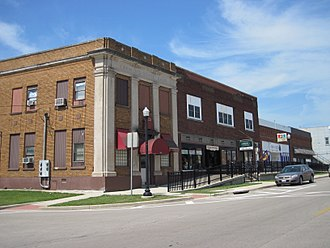 Annawan, Illinois - Annawan business district looking west on Route 6.