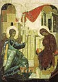 Annunciation from Vasilyevskiy chin (1408, Tretyakov gallery).jpg