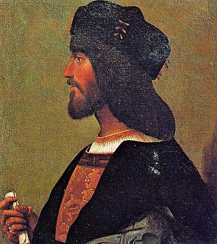 "Cesare Borgia, Duke of Valentinois. According to Machiavelli, a risk taker and example of ""criminal virtue"". Failed in the end because of one mistake: he was naive to trust a new Pope. Anon-Cesare-Borgia.jpg"